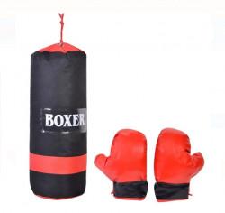 Sac de box cu manusi - copii