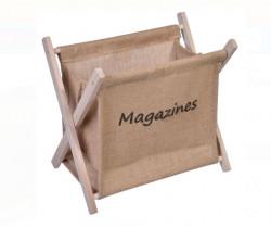Suport reviste, lemn pliată, bej - 32,5x22x29,5 cm.