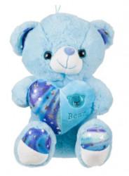 Ursuleț de pluș Blue Sea Heart 30 cm