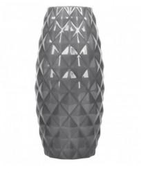 Vaza gri in forma de relief - 9x21 cm