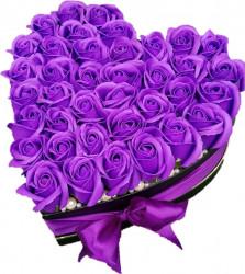 Aranjament floral trandafiri sapun parfumati, 27 cm, configuratie