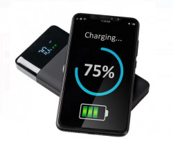 Baterie externa wireless de 10000mAh cu incărcare fără fir