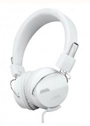 Casti audio albe, cablu 1,2m, difuzor 40mm