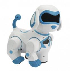 Jucarie catel robot Dancing Dog Smart Playmate, lumini si sunete, Alb/Albastru, 16 x 15 x 20 cm