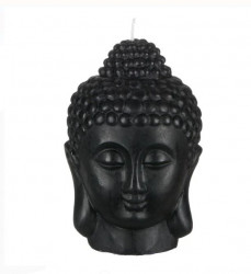 Lumanare Decorativa 3D Buddha Face Negru 14x18 cm