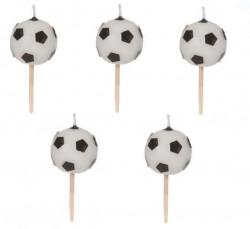 Lumânări de ziua de naștere pe scobitori în formă de minge de fotbal
