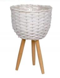 Masca de ghiveci decorativa în culoare albă 29 cm
