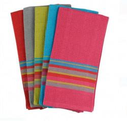 Prosoape de bucatarie din stofă colorată cu dungi 58x39 cm - 5 buc.