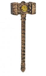 Set de arme realiste, scut, ciocan, manusa unghii Bronz - 3 buc.