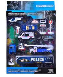 Set de vehicule și accesorii de poliție