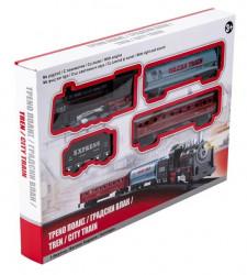Tren de oraș cu vagoane cu sunet și lumină