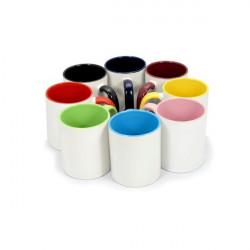 Cana personalizata (interior si maner colorat), 350 ml