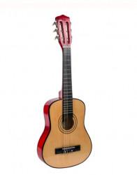 Chitara clasica din lemn, lemn - metal, 77x28x7 cm