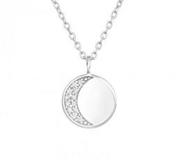 Colier luna Argint 925 - gravabil