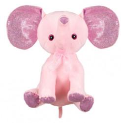 Elefant de plus , urechi cu sclipici, 21 cm