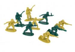 Figurinele Micului Soldat (2 Culori) Diverse Standuri - 90 buc.