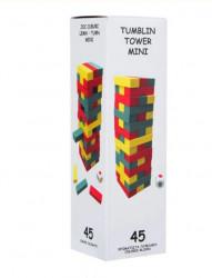 Joc de masa - Turn din cuburi, 45 caramizi