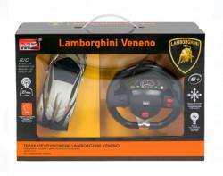 Lamborghini Veneno argintiu cu telecoanda tip volan 27 MHz 1:24
