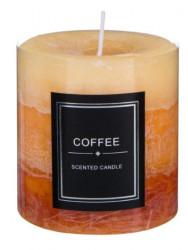 Lumânare coloana, Aromatic Miere, Maro, Cafea galbenă 7x7,5 cm