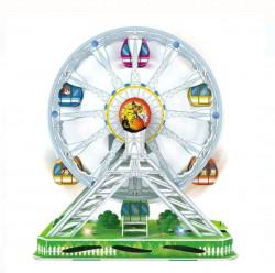 Puzzle 3d - Roata parc de distractii cu 77 piese