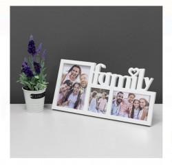 Rama foto 3D - 3 pozitii - Family - 40x20 cm