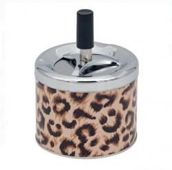Scrumiera metalica leopard 6,5x18 cm