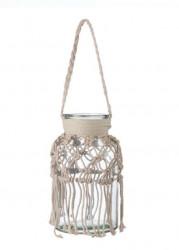Vază decorativă din sticlă agățată cu gât de 8,5 cm