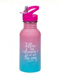 Bidonas apa inox - roz bleu - 500 ml