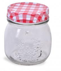 Borcan din sticlă cu capac metalic 250 ml