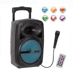 Boxa portabila Bluetooth de 20W cu roți și funcție karaoke