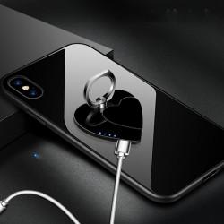 Bricheta electrica USB cu functie de suport pentru telefon, anti-vant, inima dubla