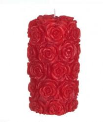 Coloana lumanare parfumata Rosie 3D - Trandafiri în relief - 7x13,5 cm