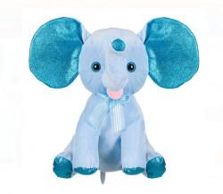 Elefant de plus cu urechi sclipitoare - 20 cm