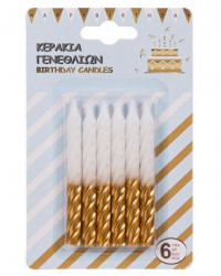 Lumânări de ziua de naștere sub forma de spiralată 6 buc
