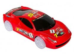 Mașină de curse cu baterie, roșie