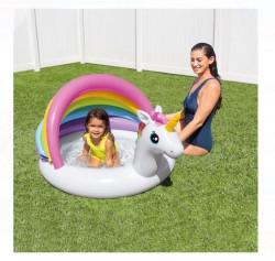 Piscina pentru copii cu umbră Unicorn 1,27x1,02x0,69 m - Intex