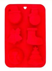 Set 6 forme prajituri - Silicon - Model Craciun