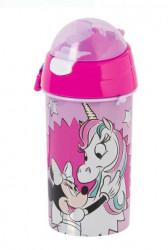 Bidon apa cu mecanism pop-up Minnie