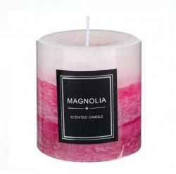 Coloana Lumânare Aromatic Roz - Magnolia - 7x7,5 cm