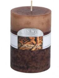 Coloana Lumânare Lemn de santal maro aromat 6,8x9,5 cm