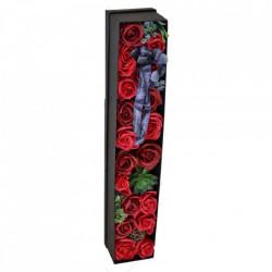 Cutie cadou cu flori si plante realizate din spuma