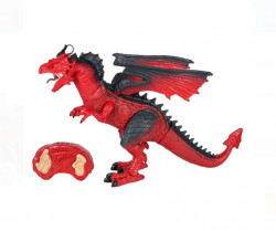 Dragon rosu cu sunet si lumini, 53x13x31 cm