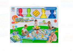 Joc de societate gigant, cu tabla de joc sub forma de covoras, 180 x 160 cm