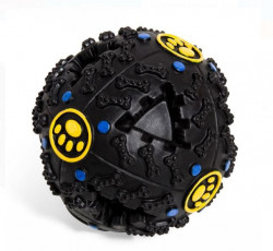 Jucarie in forma de minge de culoare neagra pentru caine