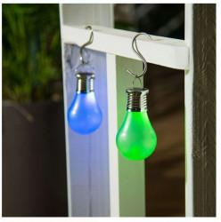 Lampă solară suspendată cu baterie reîncărcabilă și LED albastru