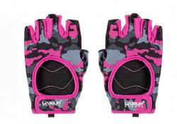 Mănuși de fitness fuchsia si negru pentru femei