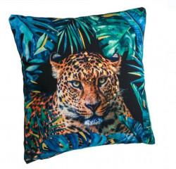 Perna decorativa cu design tropical si leopard