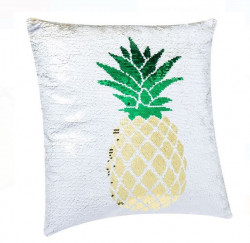 Pernă decorativă pentru canapea cu paiete 2-way Ananas 40x40 cm