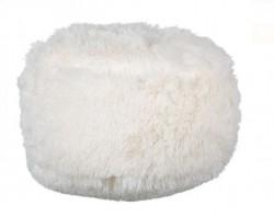 Perna decorativa tip puf alb