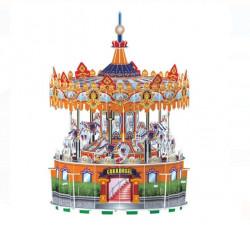 Puzzle 3d - Carusel rotativ cu 77 piese